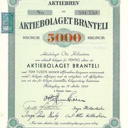 Branteli, AB, 5 000 kr