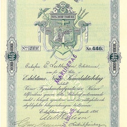 Eskilstuna Nedre Kanal AB, 446 kr, 1898