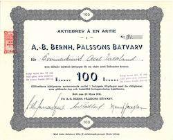 Bernh. Pålssons Båtvarv, AB, 100 kr, 1941,