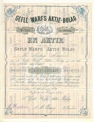 Gefle Warfs AB, 1 000 Rdr, 1874