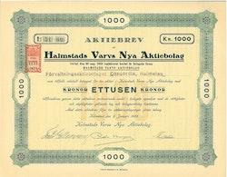 Halmstads Varvs Nya AB, 1 000 kr, 1923