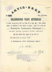 Helsingborgs Varfs AB, 500 Rdr, 1872