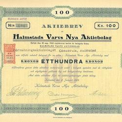 Halmstads Varvs Nya AB, 100 kr, 1923