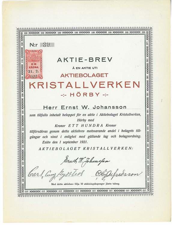 Kristallverken Hörby, AB