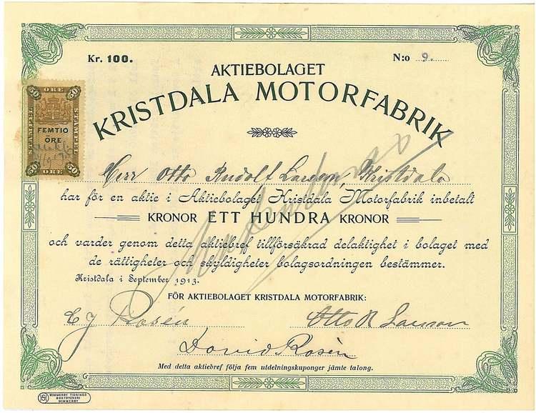 Kristdala Motorfabrik, AB