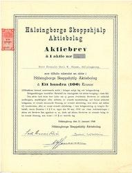 Hälsingborgs Skeppshjälp AB,, 100 kr, 1948