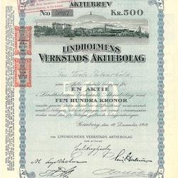 Lindholmens Verkstads AB, 500 kr, 1919