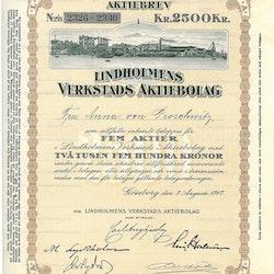Lindholmens Verkstads AB, 2 500 kr, 1917