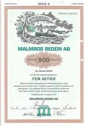 Malmros Rederi AB, 500 kr, 1974