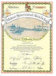 Malmö Sjöterminal AB, 100 kr, 1980