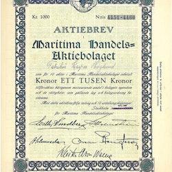 Maritima Handels AB, 1 000 kr, 1920