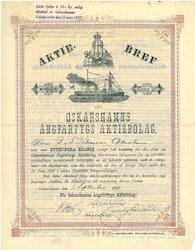 Oskarshamns Ångfartygs AB, 100 kr, 1891