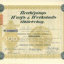 Norrköpings Warfs- & Werkstads AB, 500 kr, 1918