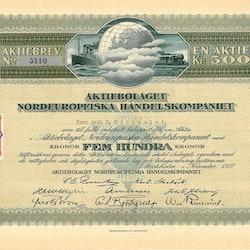 Nordeuropeiska Handelskompaniet, AB, 500 kr, 1917