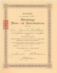Motor och Båtverkstäderna, AB, 100 kr, 1917