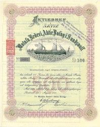 Motala Rederi AB i Sundsvall, 500 kr, 1920