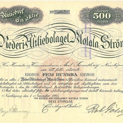 Rederi AB Motala Ström, 1905