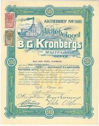 Kronbergs Maltfabrik, AB B.G.