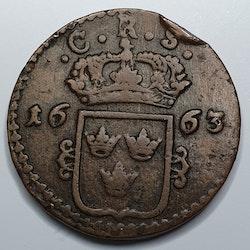 Karl XI, 1 Öre KM, 1663