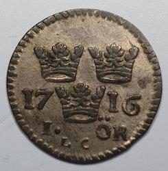 Karl XII 1 Öre 1716