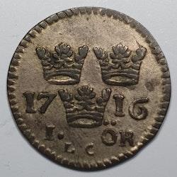 Karl XII, 1 Öre 1716