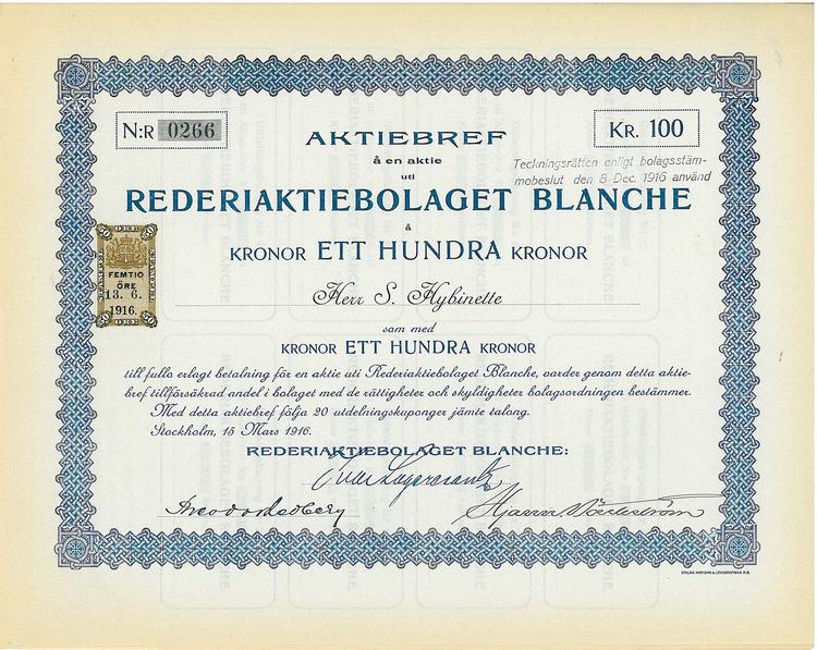 Rederi AB Branche