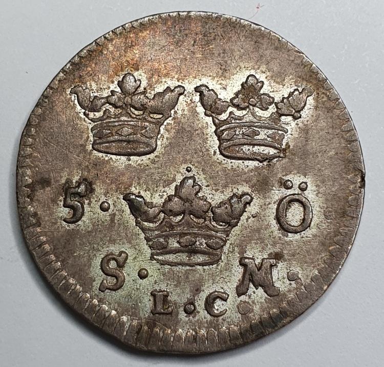 Fredrik , 5 Öre 1722