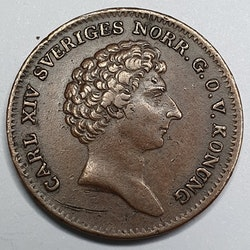 Karl XIV Johan 1/6 Skilling 1832