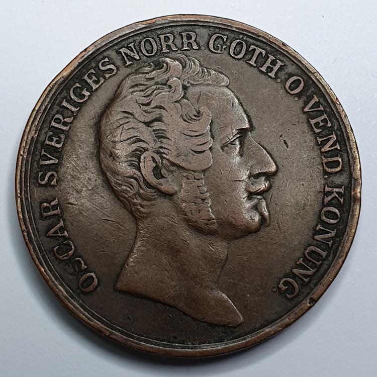 Oscar I, 2 Skilling Banco, 1844