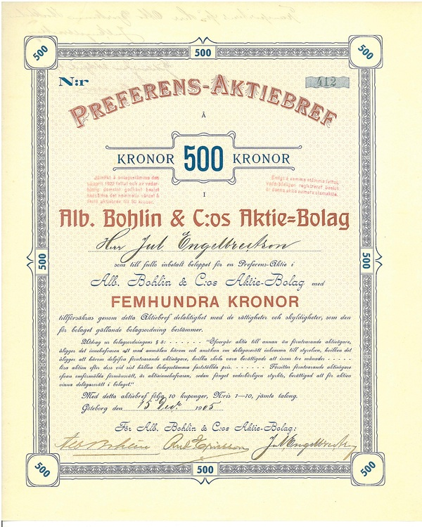 Alb. Bohlin & C:os AB