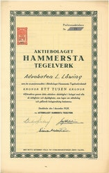 Hammersta Tegelverk, AB