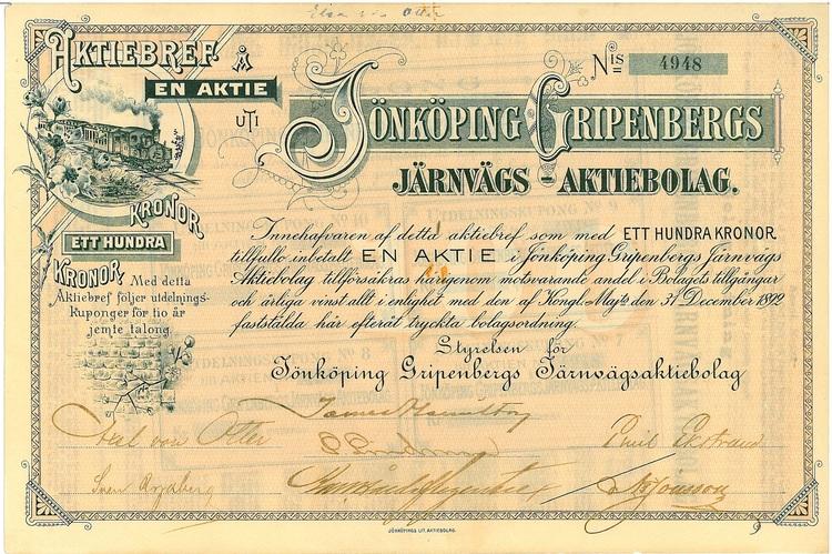 Jönköping Gripenbergs Järnvägs AB