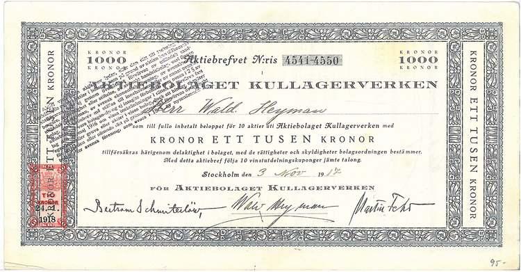 Kullagerverken, AB