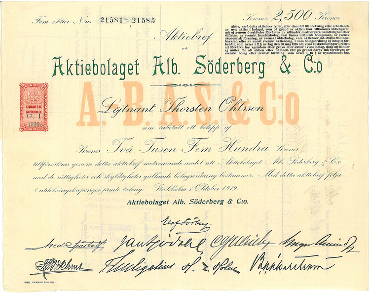 Kopia Alb. Söderberg & C.o, AB