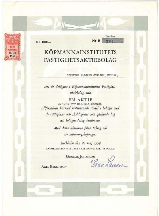 Köpmannainstititutet Fastighets AB