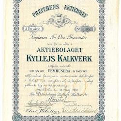 Kyllejs Kalkverk, AB