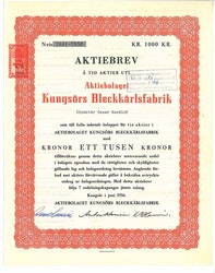 Kungsörs Bleckkärlsfabrik, AB