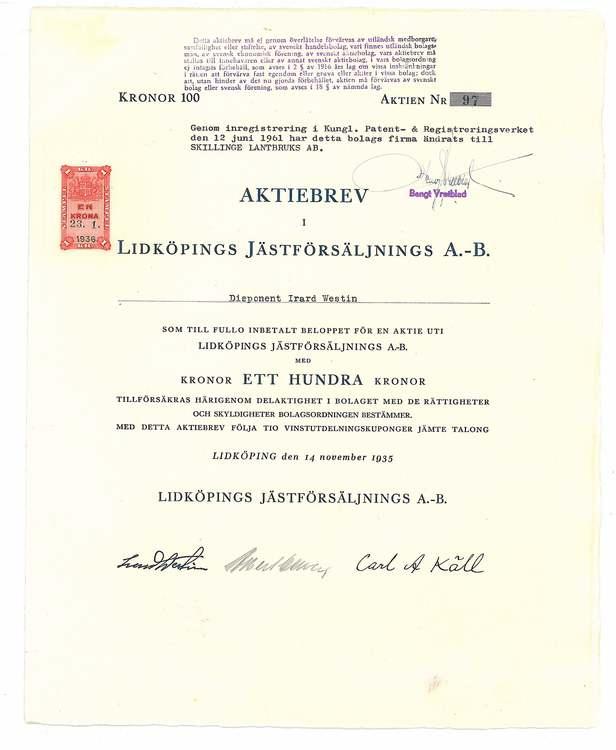 Lidköping Jästförsäljning, AB