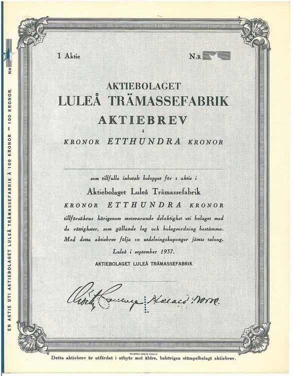 Luleå Trämassefabrik AB