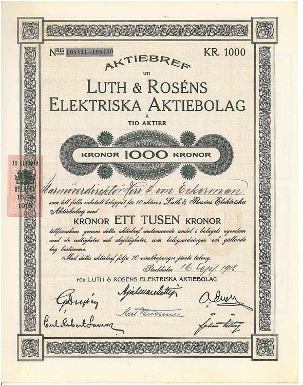 Luth & Rosens Eletriska AB