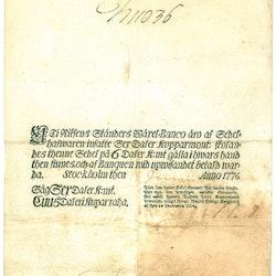 6 Daler Kopparmynt, 1776