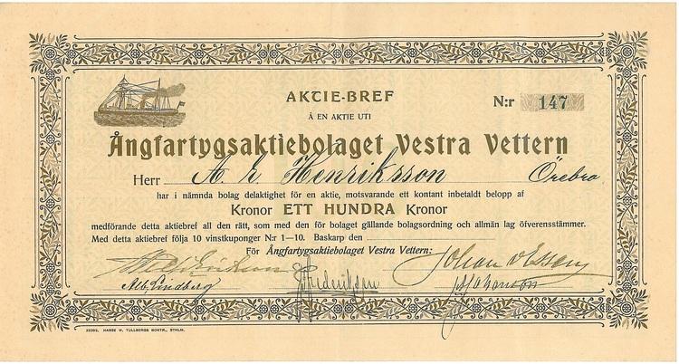 Ångfartygs AB Vestra Vettern