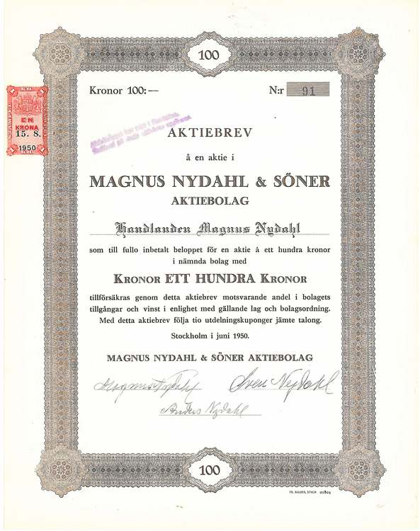 Magnus Nydahl & Söner AB