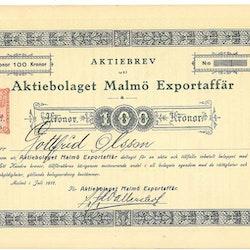 Malmö Exportaffär, AB