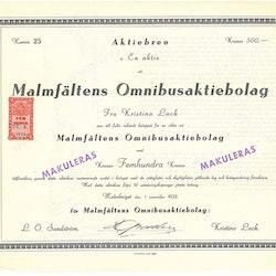 Malmfältens Omnibus AB, 1933