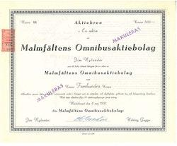 Malmfältens Omnibus AB, 1951