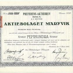 Maryvik, AB, 500 kr