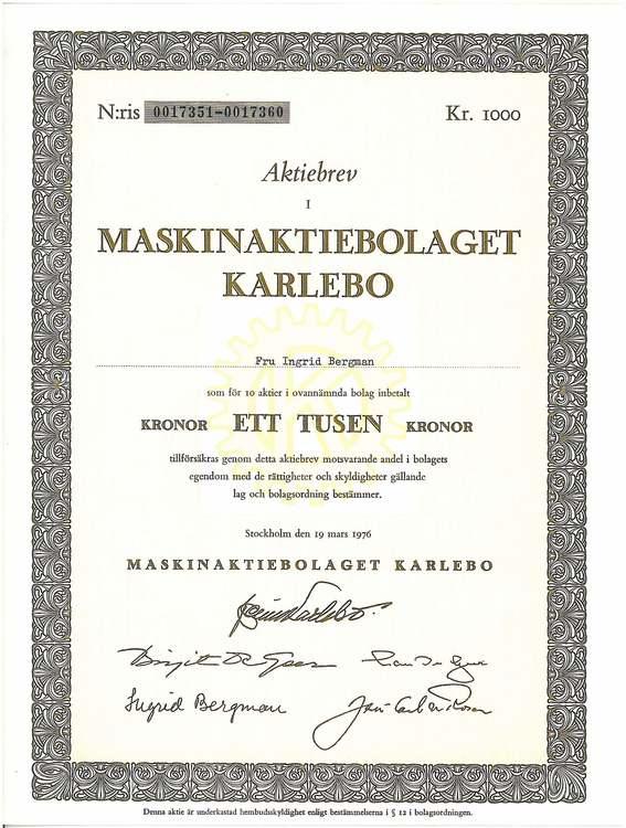 Maskin AB Karlebo