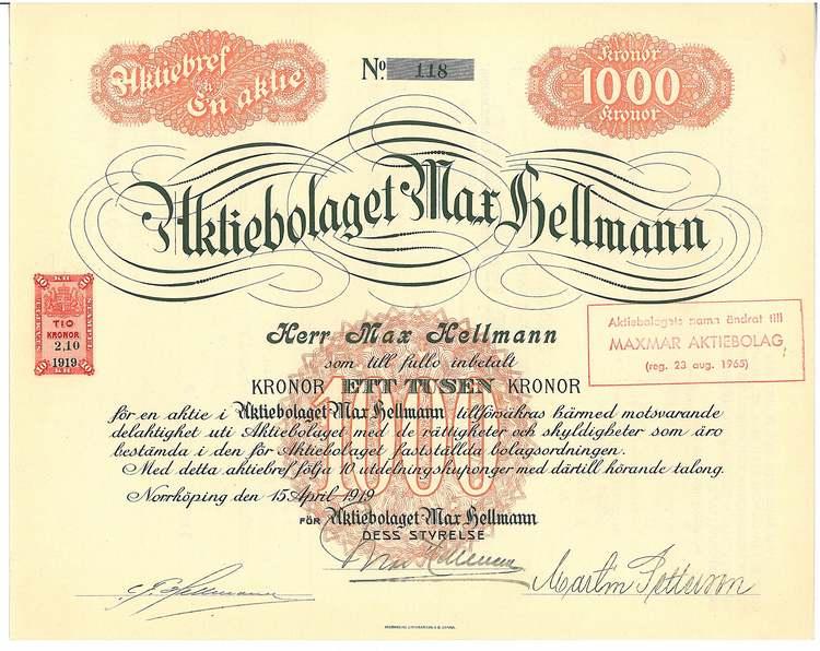 Max Hellman, AB