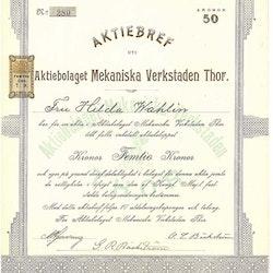 Mekaniska Verkstaden Thor, AB